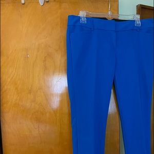 Pants - Royal blue pants with cuffs it's ankle. Waist 35